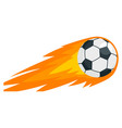 soccer fire ball icon flat style vector image