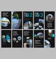 social networks stories design vertical banner or vector image vector image