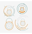 Thin line neat design logo set lock concepts vector image