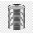 tin can mockup realistic style vector image