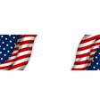 usa banner design american flag vector image vector image
