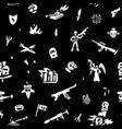 war seamless background design element icon set vector image