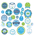 water recycling symbols vector image