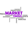 word cloud - market timing vector image vector image