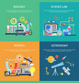 concept pictures with science symbols school vector image