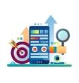 Marketing - flat design website banner vector image