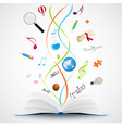 Open book with science icon vector image