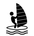 Summer Water Sport Windsurf Pictograms Flat People vector image
