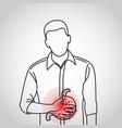 indigestion logo icon vector image