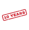 10 Years Text Rubber Stamp vector image vector image