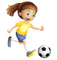 a female football character vector image