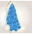 Abstract lace background with Christmas fancy blue vector image