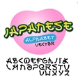 Alphabet Japanese style vector image