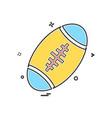 american ball icon design vector image vector image