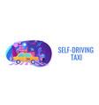 autonomous taxi concept banner header vector image vector image
