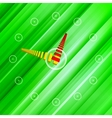 Background green clock vector image vector image