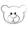 bear teddy isolated icon vector image