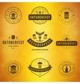Beer festival Oktoberfest typography labels vector image