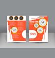 brochure design orange theme template vector image vector image