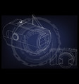 camera on blue vector image vector image