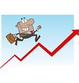 Cartoon business man vector image vector image