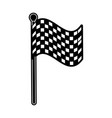 checkered flag car racing related icon image vector image vector image
