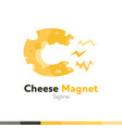 cheese magnet logo restaurant logo food and vector image vector image