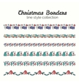 Christmas Borders Set of Christmas Seamless vector image vector image