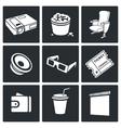 Cinema hall Icons Set vector image vector image