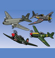 collection full color world war 2 military vector image vector image