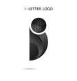 Creative I-letter icon abstract logo design vector image vector image
