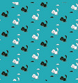 cute seamless pattern with cats and mice vector image