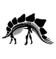 Dinosaur skeleton silhouette