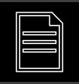 document white color icon vector image vector image