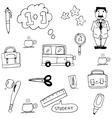 Doodle of school for kids vector image vector image