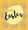 easter pattern background with eggs vector image vector image