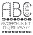 english alphabet letters abc collection upper vector image vector image
