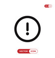 exclamation icon vector image vector image