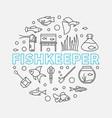 fishkeeper round modern in vector image vector image