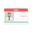 geneticist medical specialist badge vector image