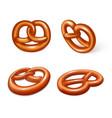 german pretzel icon set realistic style vector image vector image