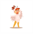 Girl Desguised As Rooster vector image vector image