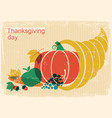 happy thanksgiving day vintage poster with vector image vector image