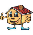 house cartoon i like vector image