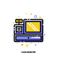 icon cash register for shopping and retail concept vector image vector image