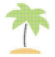 island tropic palm halftone icon vector image