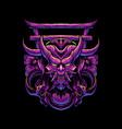 japanese demon vector image