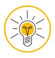 light bulb like idea icon shining lamp design vector image vector image