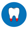 loose tooth icon vector image vector image