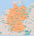 map germany isolated eps 10 vector image vector image